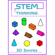3D Shapes Clip Art- 7 Shapes in 10 Colors